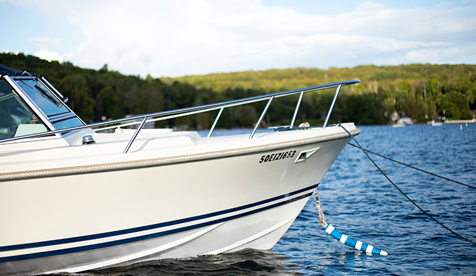 front side profile of limestone boat