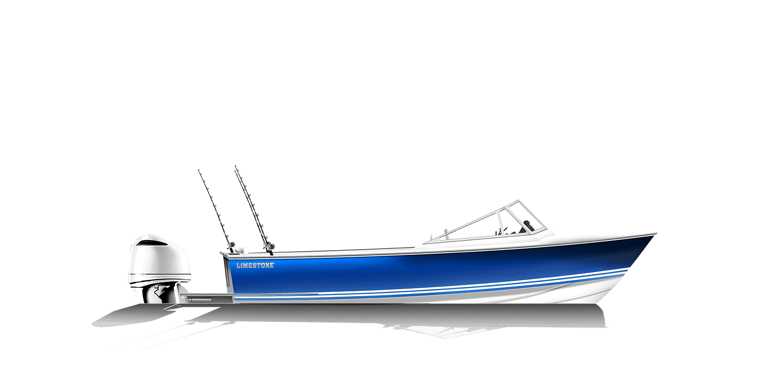 Limestone Boats 250R Runabout Fish Arrangement