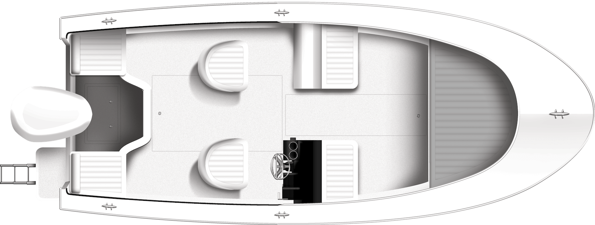 170DC Dual Console Overhead Rendering
