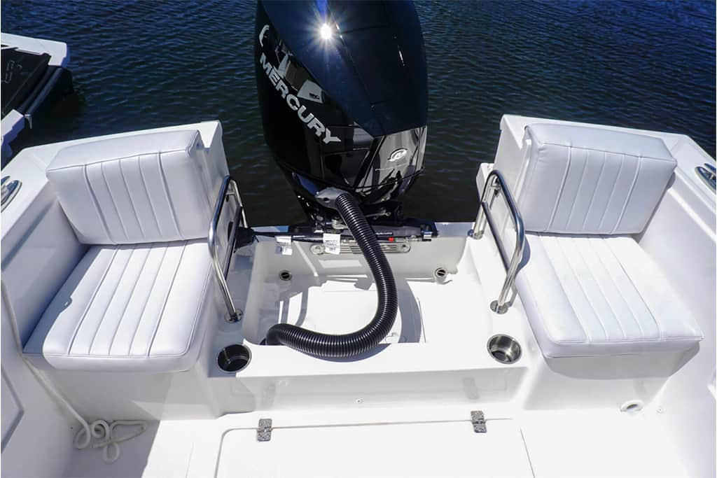 Limestone Boats L-200CC Center Console out on the water