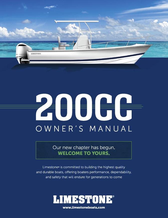 Limestone Boats - 200CC Owner's Manual